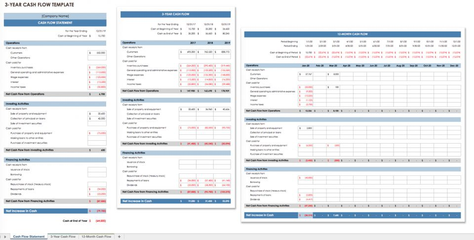 cash flow statement form