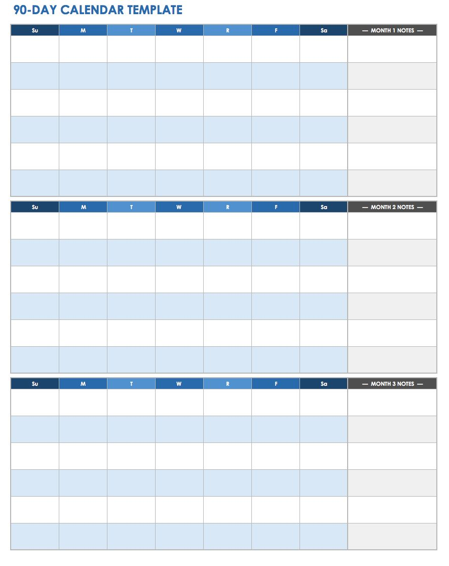 28 free time management worksheets smartsheet for 120 day calendar template