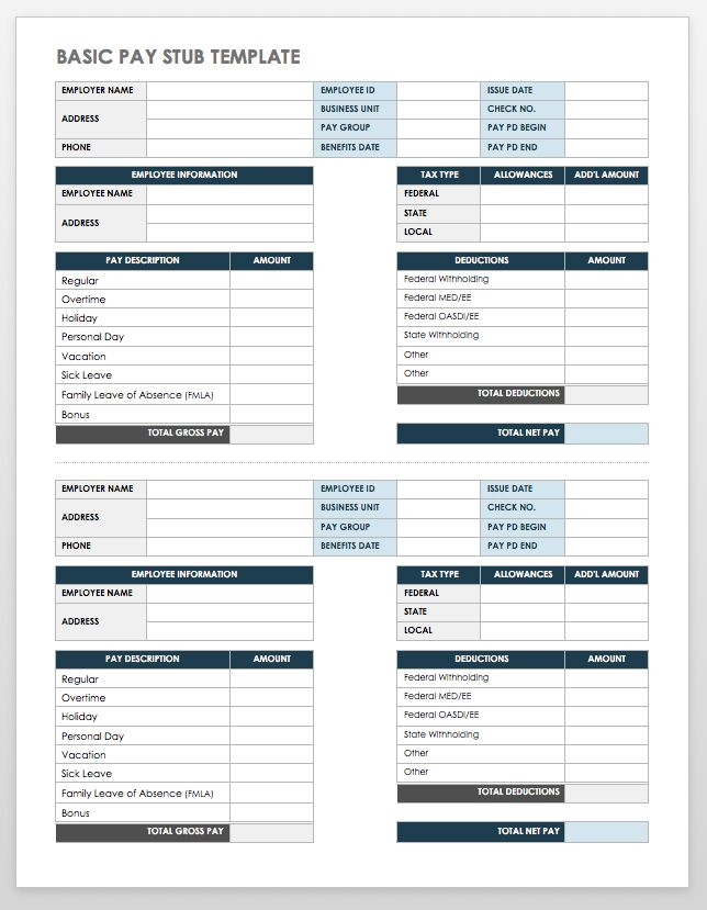 Free pay stub templates smartsheet basic pay stub template word maxwellsz