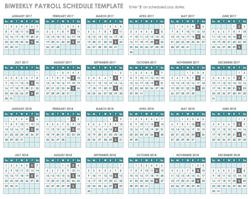 Marvelous Biweekly Payroll Schedule Template Throughout Payroll Schedule Template