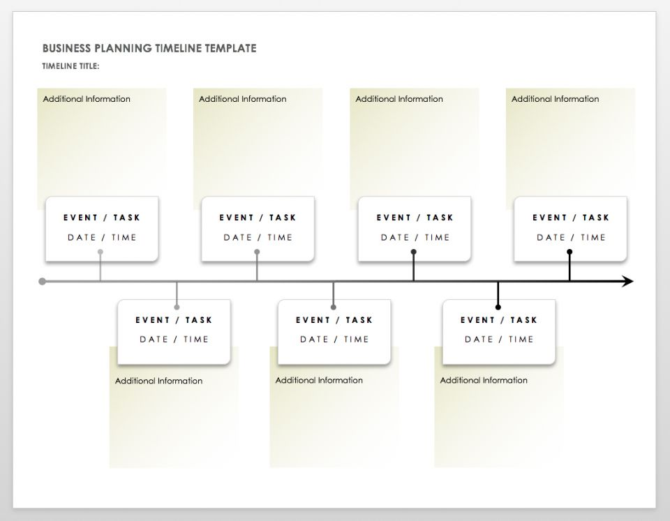 Timeline Template Create A Timeline For Your Business Plan With