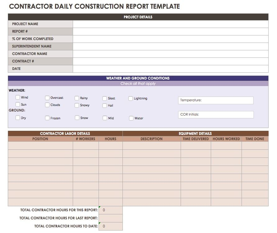 Charming Use This Daily Construction Report Template To Record The Work Performed By  Each Team Of Subcontractors, As Well As By The General Contractor. Within Construction Report Template