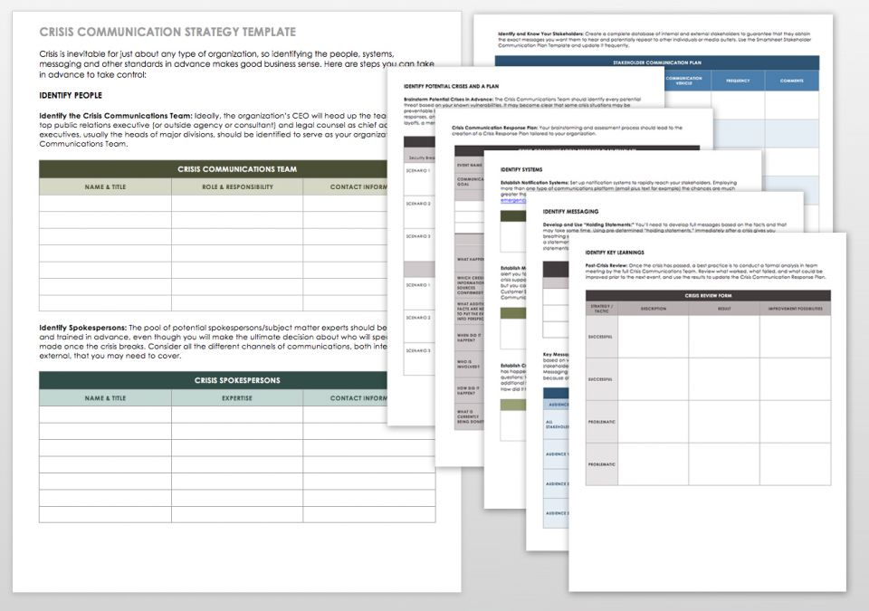 Free communication strategy templates and samples smartsheet for Strategic management report template