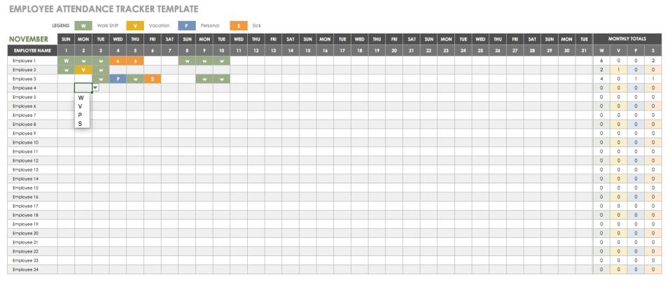 tracking hours worked in excel