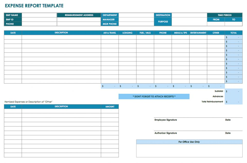 32 free excel spreadsheet templates smartsheet you can use this template to keep track of business travel costs and request reimbursement for expenses such as lodging meals transportation accmission Image collections