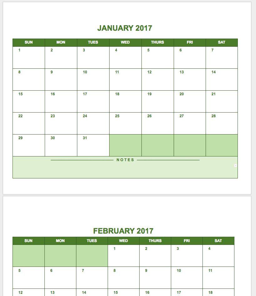 January 2018 Calendar Google Docs | | 2018 january calendar