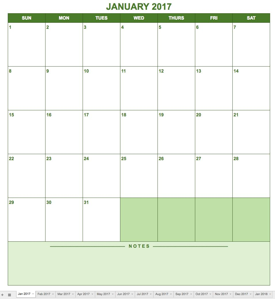 if you need a template with a traditional calendar format this is a basic option in a portrait layout easily view an entire month and create notes for