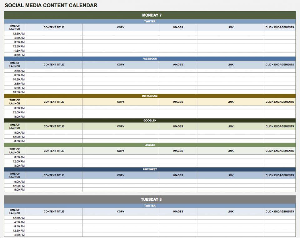 google sheets templates calendar - Selo.l-ink.co