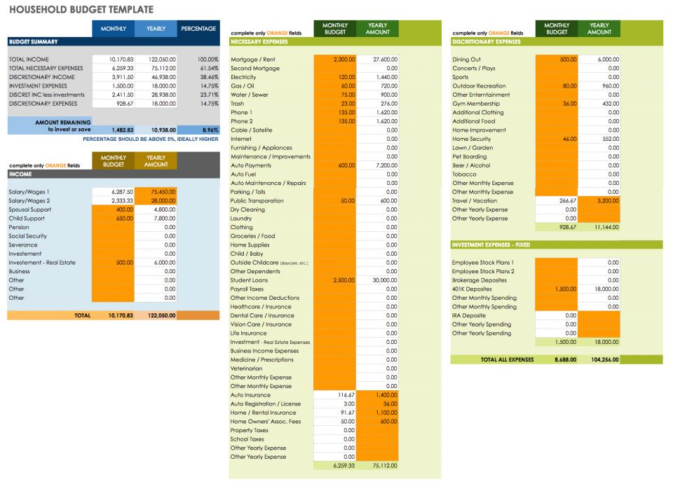 Free google docs budget templates smartsheet balance your household budget track your savings and make room for vacations or other events that may require extra financial planning with this template maxwellsz