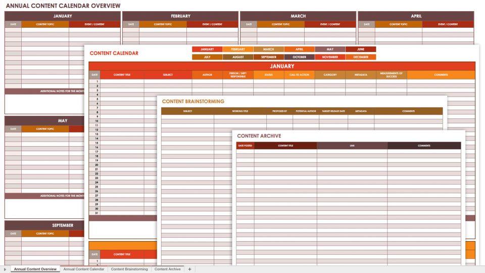 Free Social Media Calendar Templates  Smartsheet