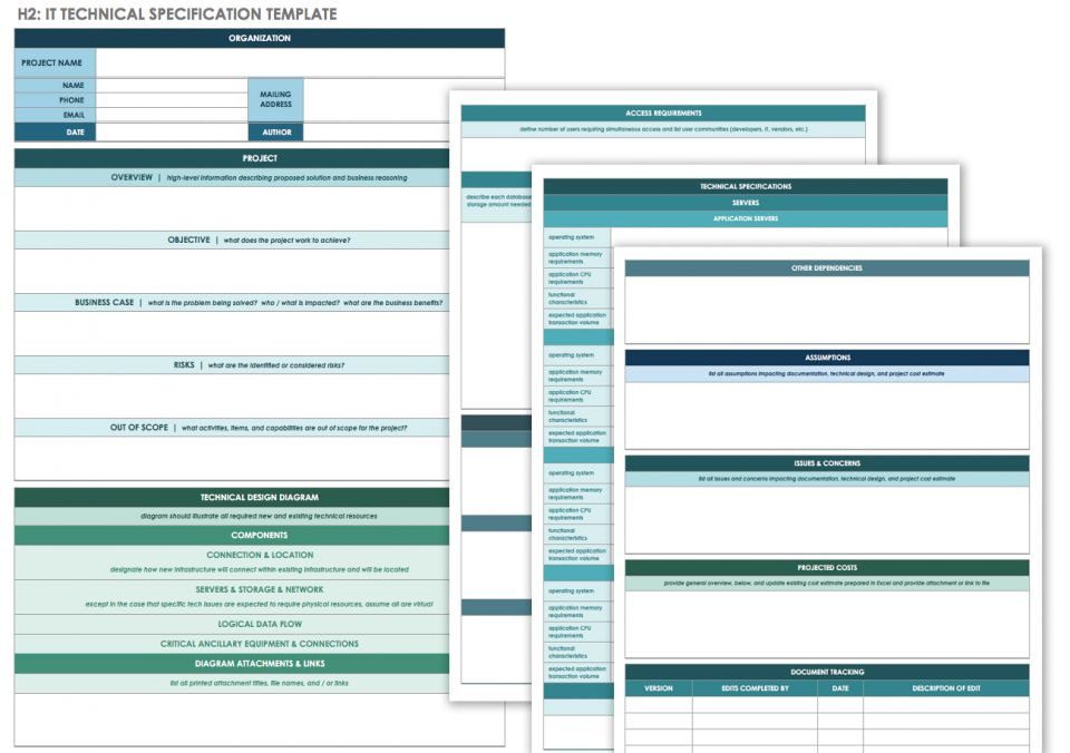 Tech spec template selowithjo free technical specification templates smartsheet wajeb Gallery