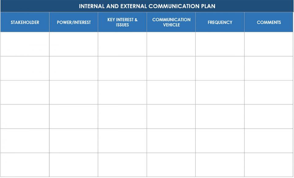 comms plan template - free communication strategy templates and samples smartsheet