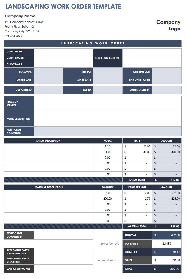 15 free work order templates smartsheet for Workorder template