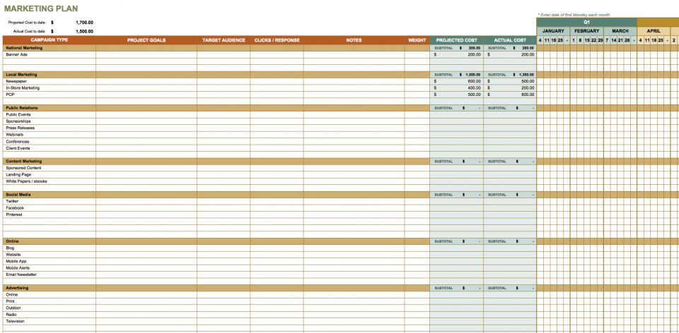 Budget Timeline Template Simple Monthly Budget Template Monthly – Sample Marketing Schedule