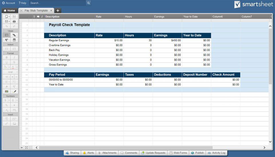 Free Payroll Templates  Smartsheet