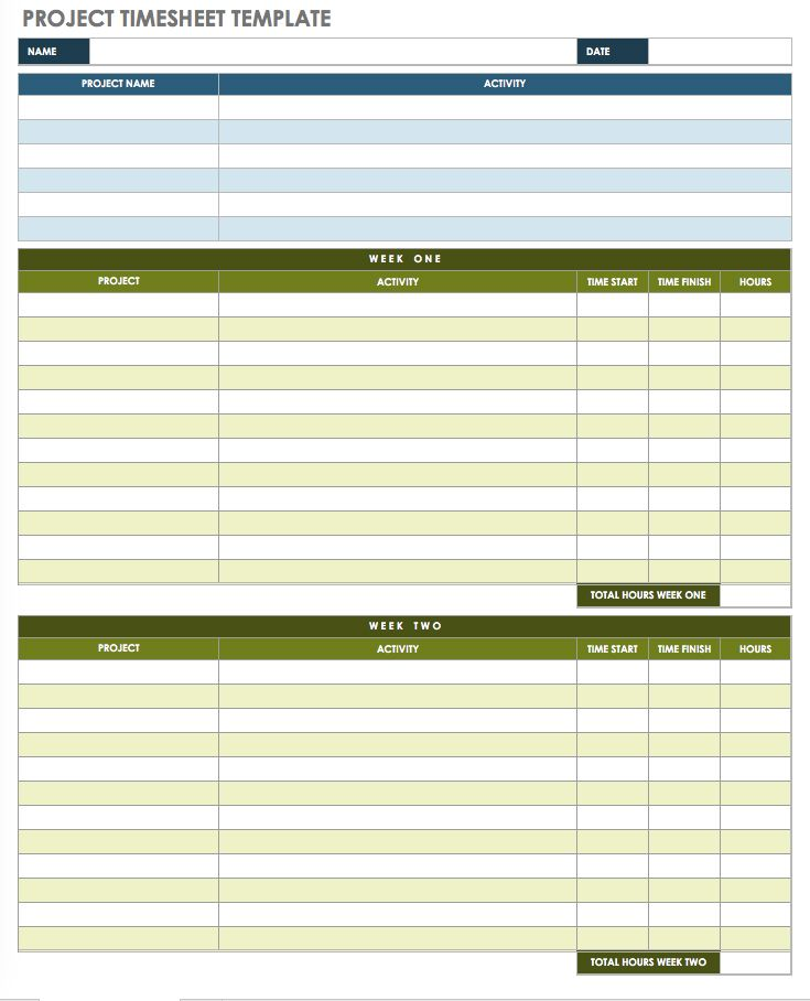 17 free timesheet and time card templates smartsheet