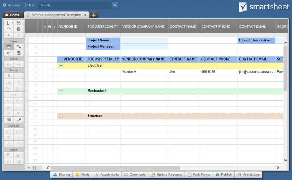 vendor management program template - definitive guide to vendor risk management smartsheet