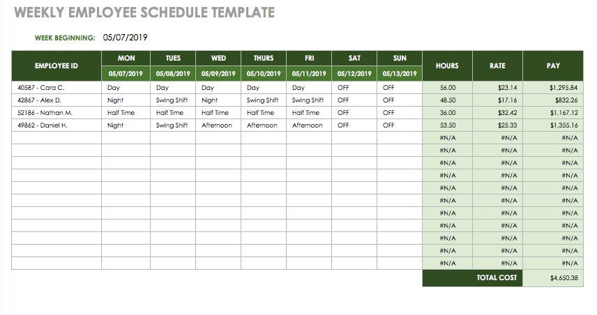 17 Free Timesheet and Time Card Templates – Time Card Template Free