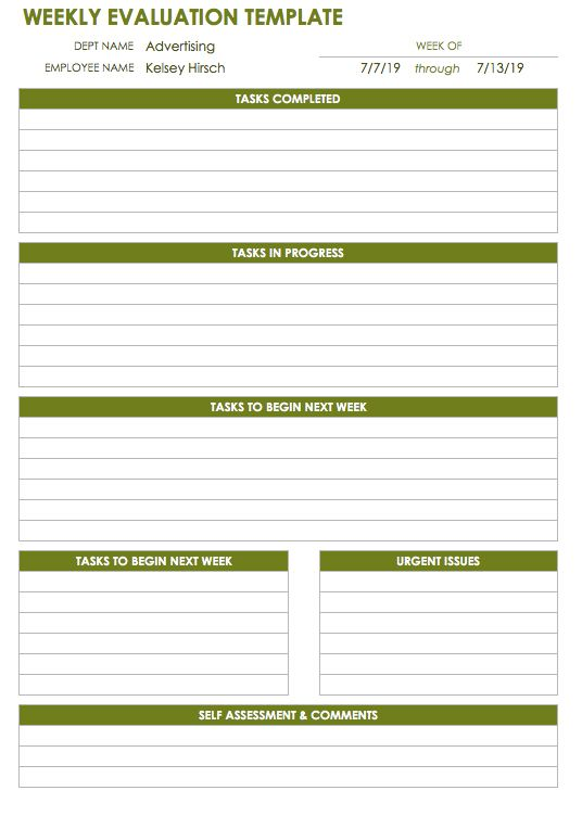 quarterly employee review template - 28 free time management worksheets smartsheet