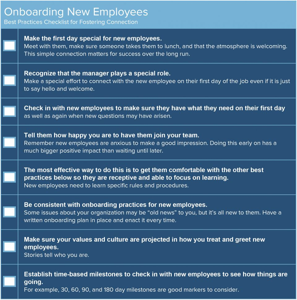 manager onboarding checklist