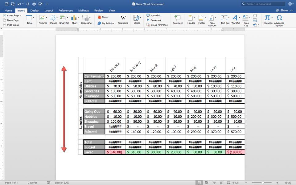 How To Make A Spreadsheet In Excel Word And Google Sheets