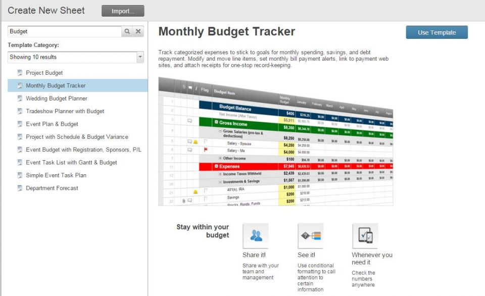 monthly expenses sheet free