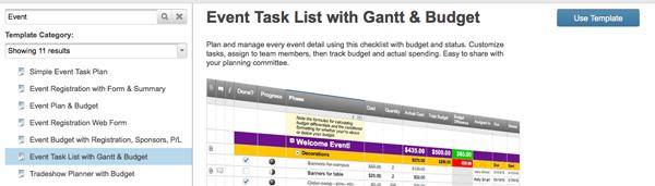 Smartsheet Event Planning Template