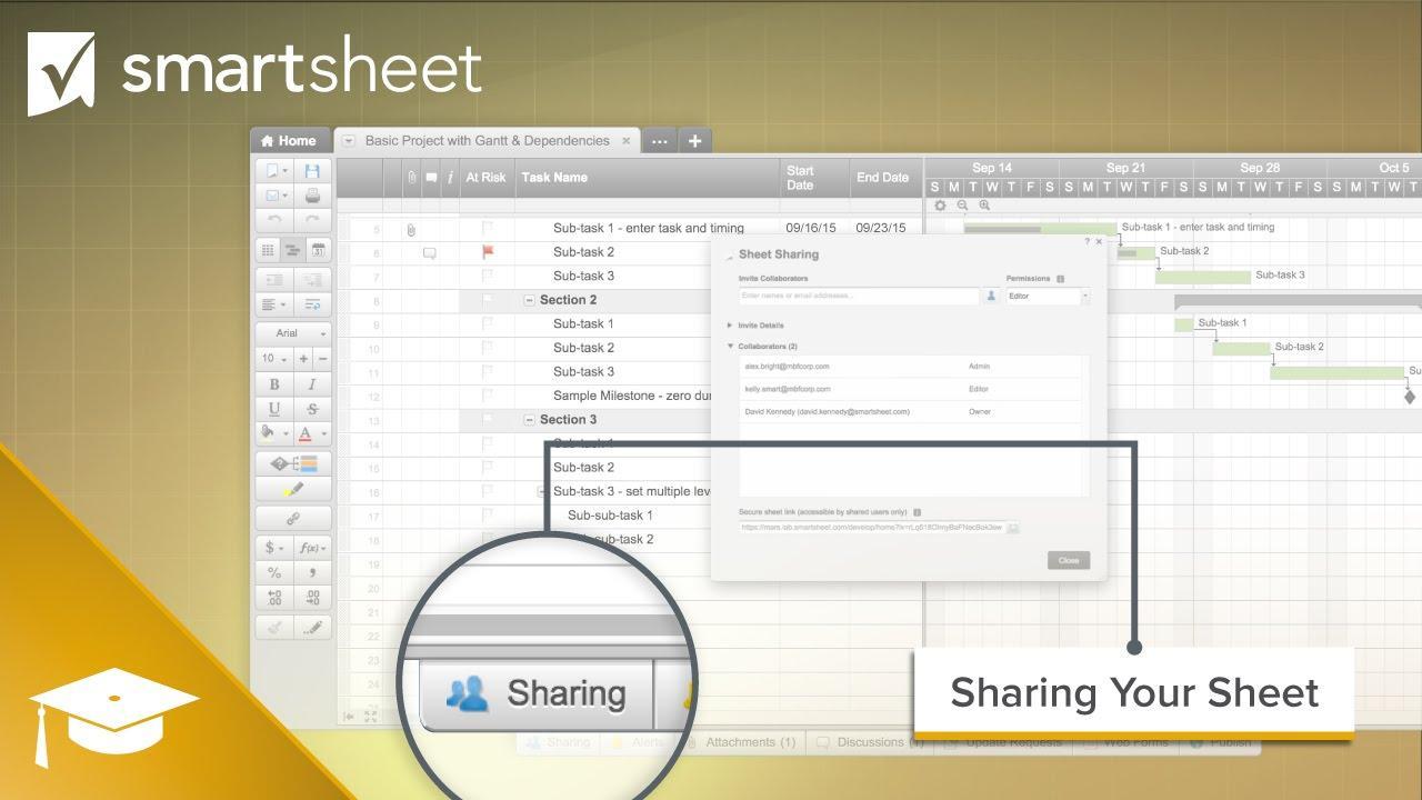 Sharing Your Sheet in Smartsheet