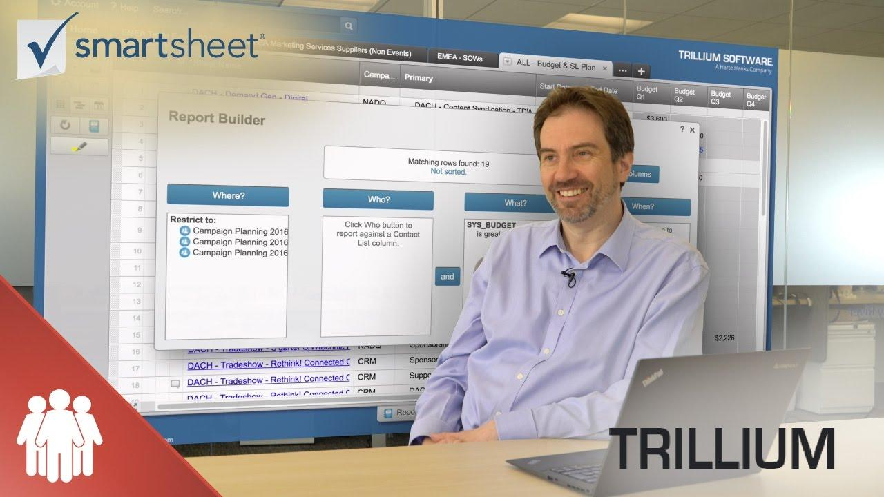 How Trillium Software Uses Smartsheet for Marketing Campaign Roll Ups