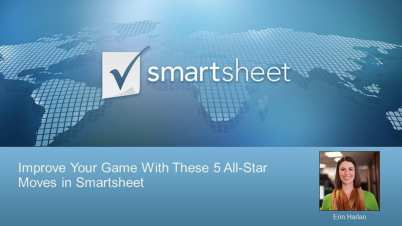 Improve Your Game With These 5 All-Star Moves in Smartsheet