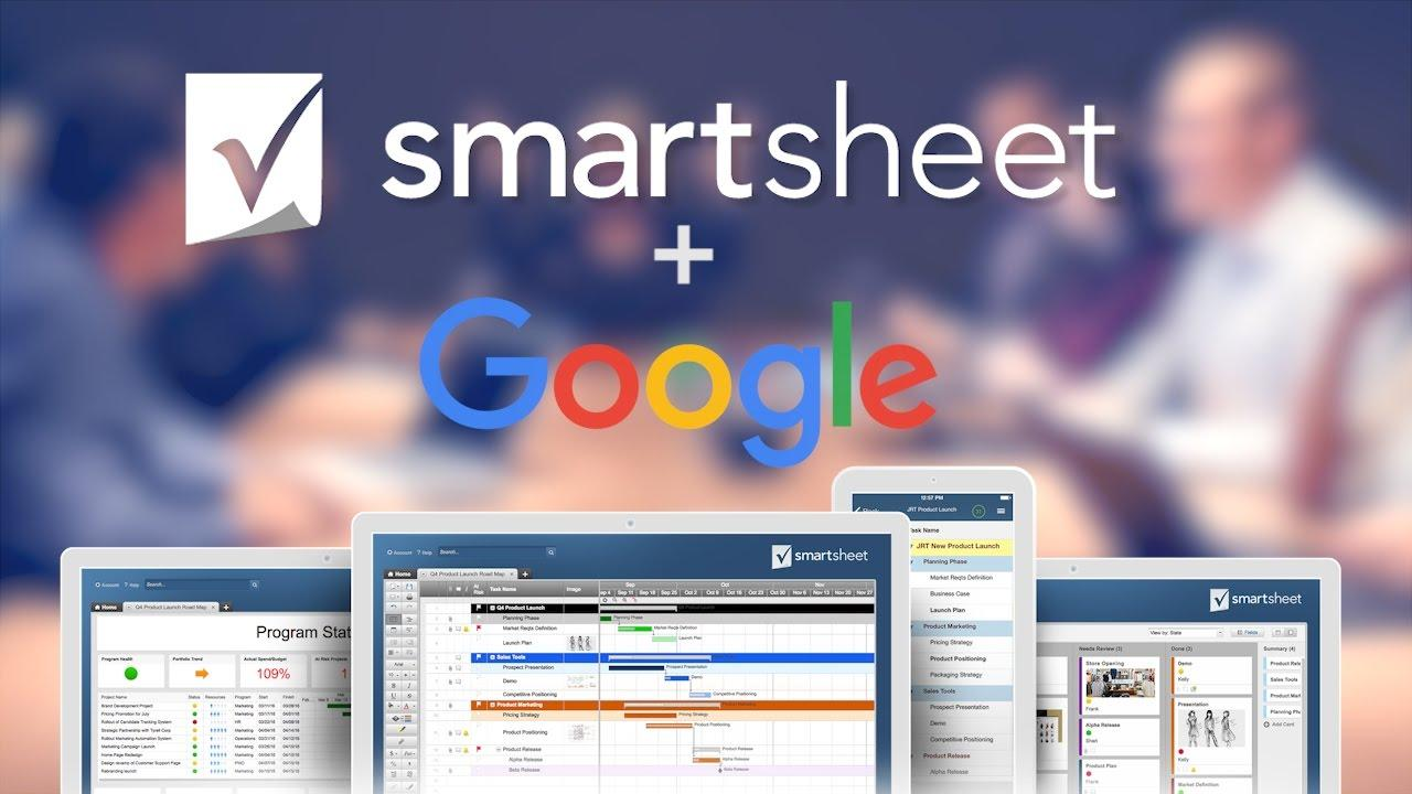 Work Smarter with Google and Smartsheet