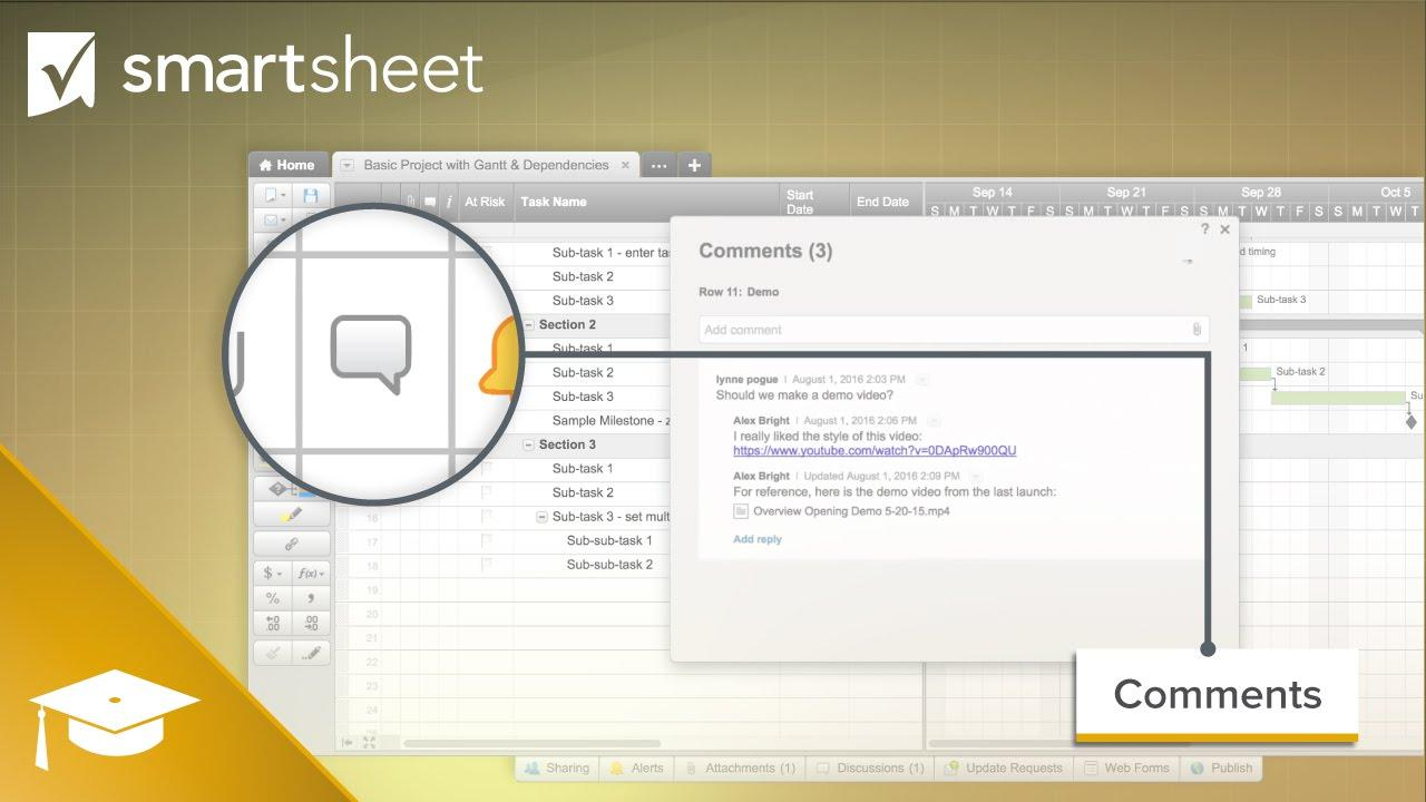 Comments in Smartsheet