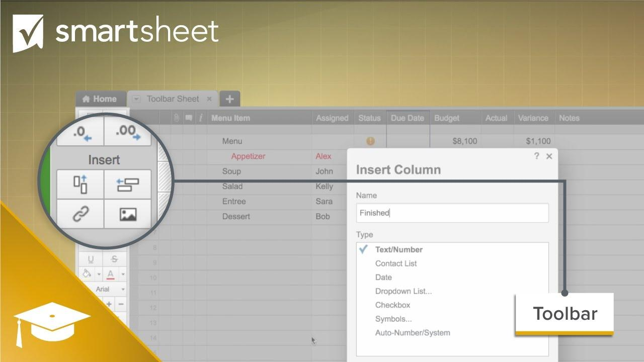 Work Better with the Smartsheet Toolbar