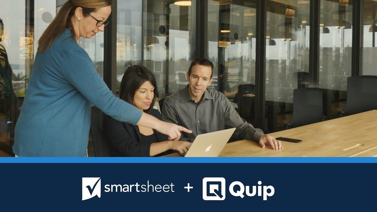 Smartsheet Live App for Quip