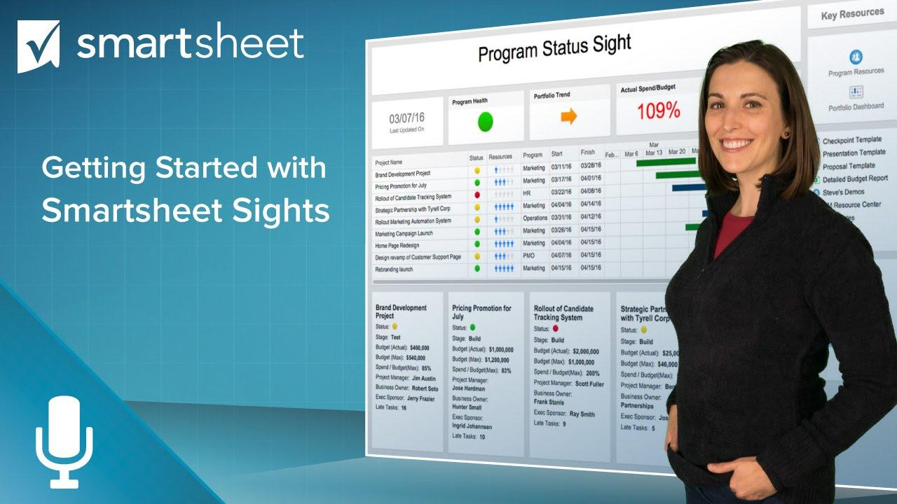 Getting Started with Smartsheet Sights