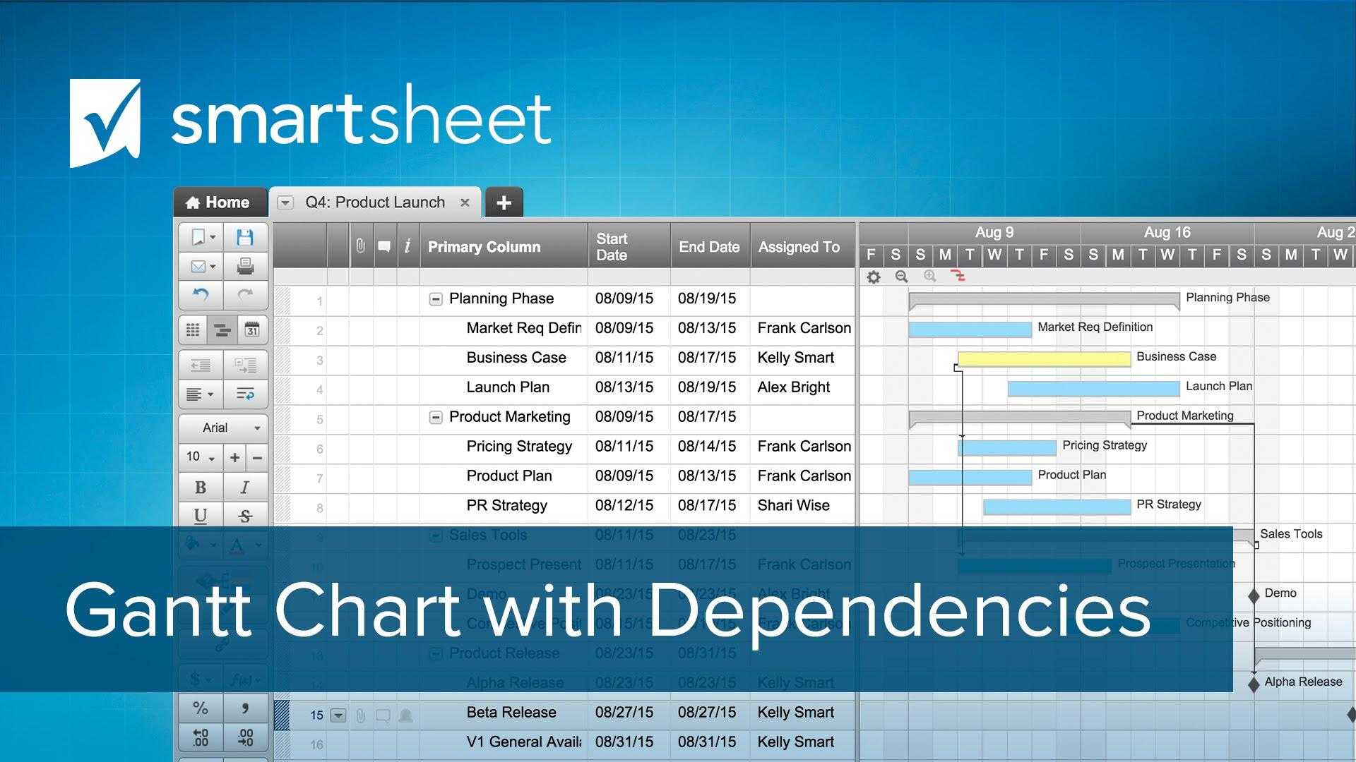 Project management smartsheet make a gantt chart with dependencies nvjuhfo Choice Image