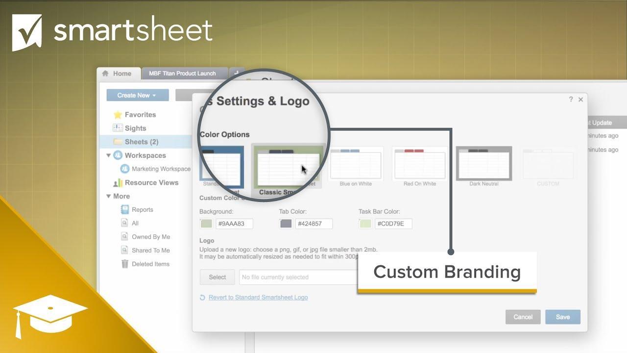 Custom Branding in Smartsheet