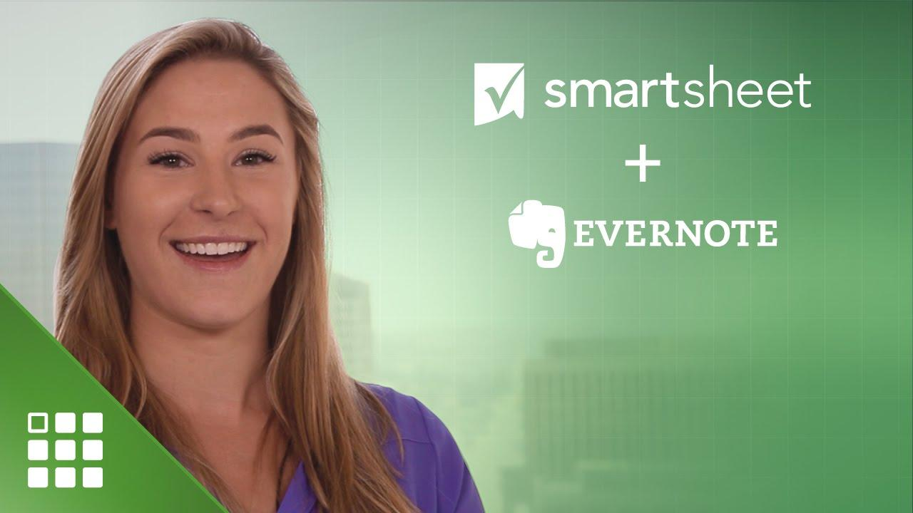 Evernote and Smartsheet
