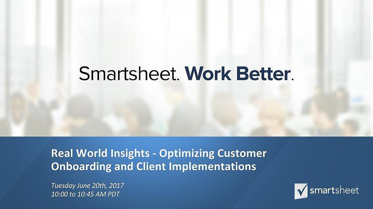 Smartsheet Control Center for Customer Onboarding featuring eResearch Technology
