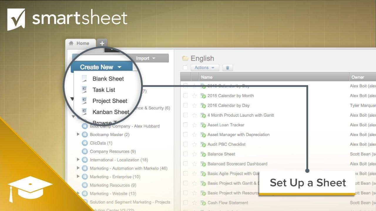 How to Set Up a Sheet