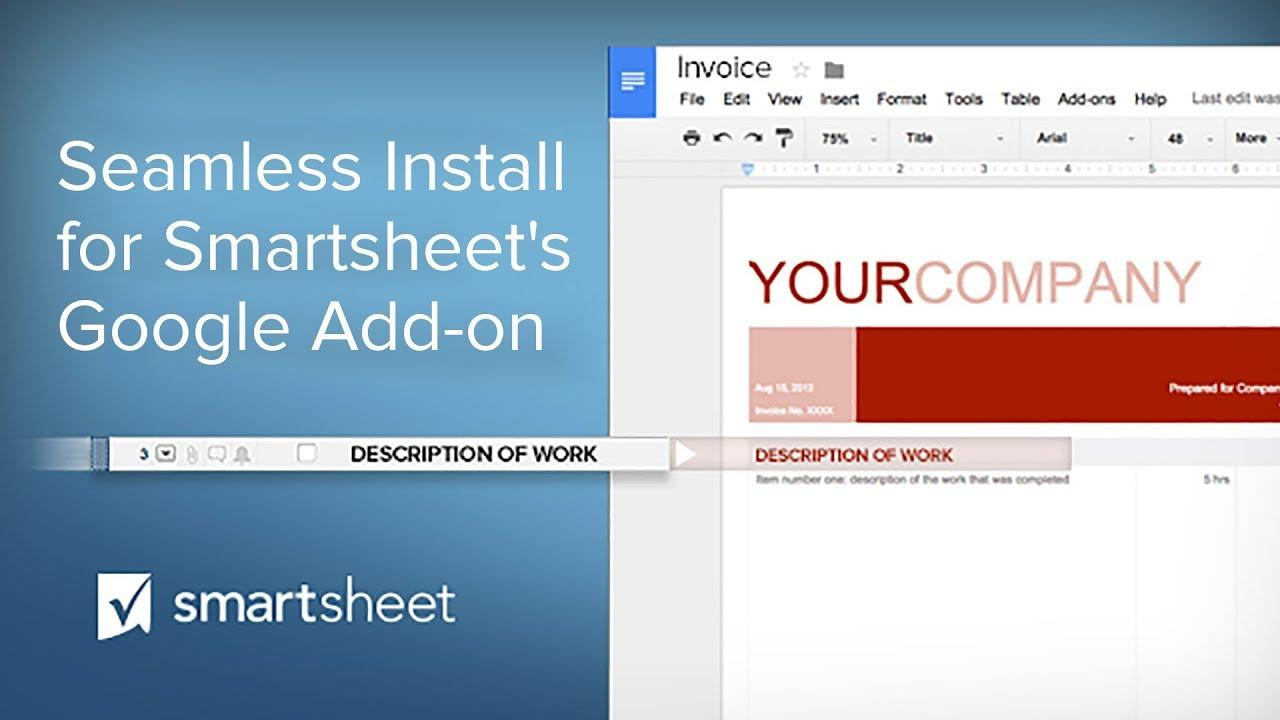 Seamless Install for the Smartsheet Merge Google Add-on