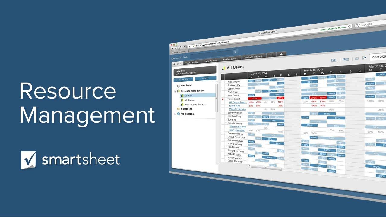 Using Resource Management in Smartsheet