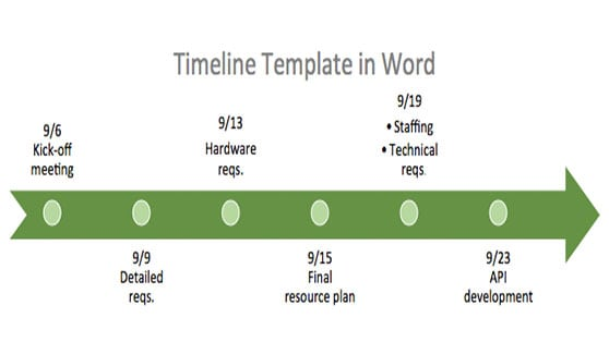 Timeline in Word